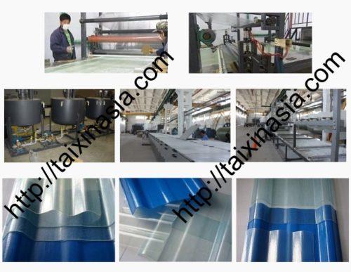 Линия по производству стеклопластиковых листов и гофрированного листа